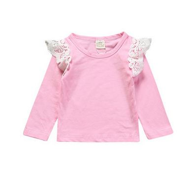 Newborn Toddler Flying Tee Clothes Long Sleeve Baby T Shirt Cute Spring Autumn T-shirts Tops Baby Girls Outfit Blouse Clothing