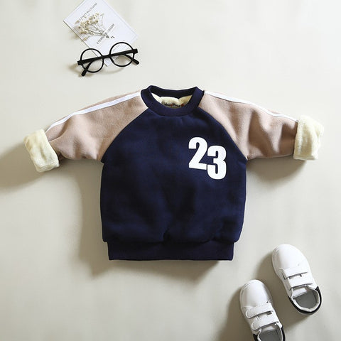 Newborn baby boys winter warm hoodies toddler sports cotton thick sweatshirt for boys infant casual velvet outerwear clothes