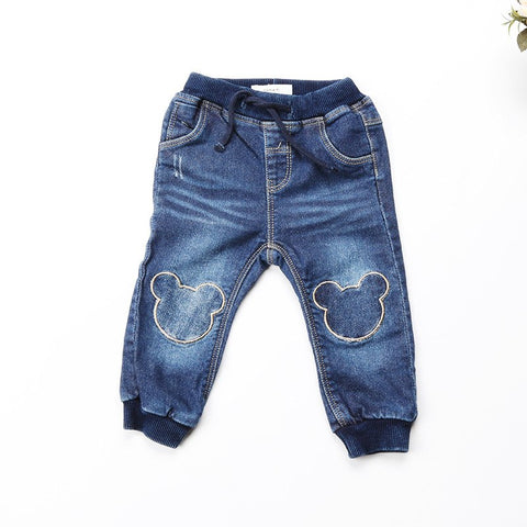 Newborn trousers 2018 Kids denim pants for Baby Jeans soft cartoon Boys Trousers Toddler baby Pants