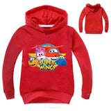 Newest Fall Super Wings Costume Baby Girls Clothes Novelty Hoodies Boys Jumper Kids Hoodies Sweatshirts Fashion Toddler T-Shirts