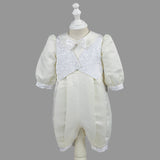 Nimble newborn baby boy clothes cotton broadcloth single breasted solid full sleeve baby set newborns clothes baptism dress