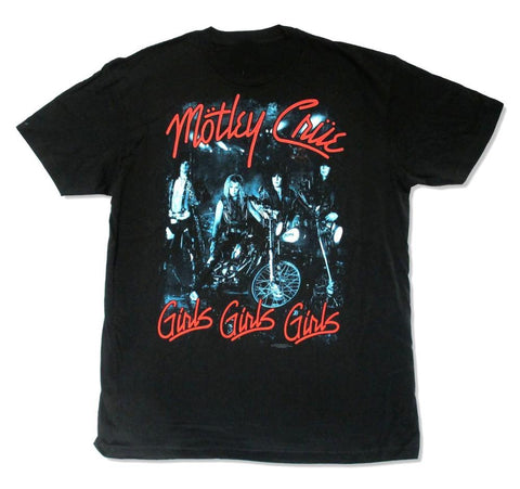Online T Shirts Store Men'S Motley Crue Girls Band Pic Mens Crew Neck Funny Short Sleeve T Shirt