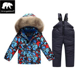 russian winter Suit for boy Windbreaker children snow we warm jacket co for boys kinder parkas kids ski clothes