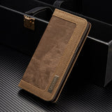 Original Brand Vintage Denim Magnetic Flip Case for Samsung Galaxy S8 S8+ Stand Wallet Case for S8 S8+ with Card Slots