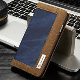 Original Brand For Samsung Galaxy S7 edge Case Luxury Canvas Denim Jeans Cloth Flip Wallet Stand Photo Frame Cover for GalaxyS7