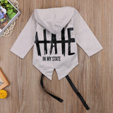 Newest Toddler Baby Winter Warm Cotton Jacket Solid Army Green gray Casual Hooded Co Kids Boy Girl Outerwe 0-24M