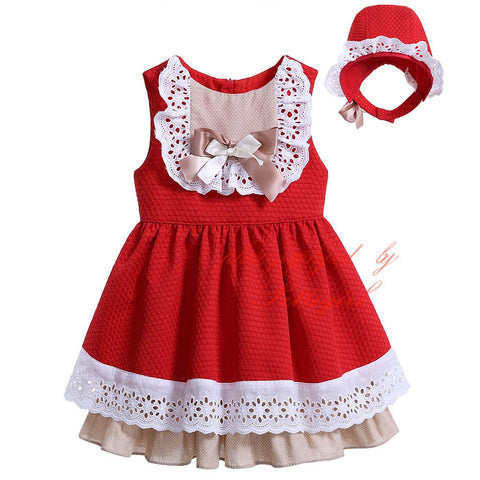 Toddler Girl Dress with Headband for Baby Girls Bow Party Dress Infant Summer Clothes Boutique G-DMGD906-797