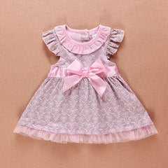 Princess Baby Girls Dress Floral Summer Girl Dresses Top Quality 100%Cotton Bow Infant Dress for Kids Clothing