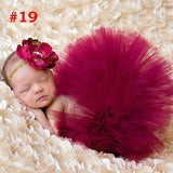Princess Newborn Tutu and Vintage Headband Newborn Baby Photography Prop Birthday Sets For Baby Girls TS001