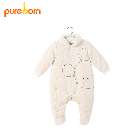 Baby Footie for Newborns Winter Warm Thick Baby Girl boy Clothing Body for Newborns High Quality Cotton 2018 Band New