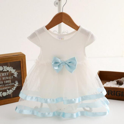 Summer Newborn Baby Girls Dress Cotton Bow Baby Rompers Kids Infant Clothes Baby Girls Jumpsuit Ball Gown Tutu Dress