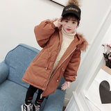 Real Raccon Fur Coll Kid Boys Girls Winter Co Thick Warm Down Coats Fashion Children's Hooded Jacket White Down Outwe S249