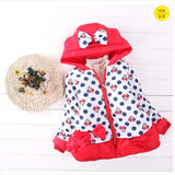 Retail 2016 New Styles Girls Mickey Minnie Jacket Baby Girls Cotton Winter Thick Warm Co Children Lovely Outerwear