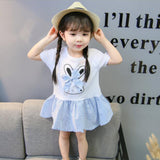 Retail 2018 Summer New Children's clothing summer new girls small fresh fashion baby girl clothes kids dresses for girls