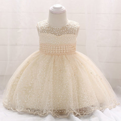 Retail Baby Girl Party Ball Gown Dresses Newborn Baby Baptism Dress