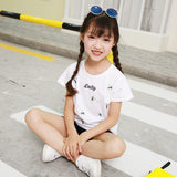 Retail Brand 2018 New babyKids Girls Tshirt Child Clothing Childrens Tops Summer Clothes Short Sleeve Tee blouse shirts Cartoon