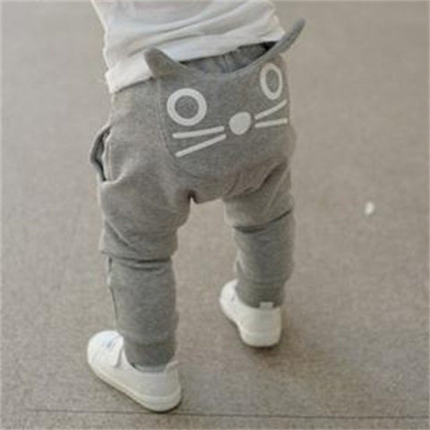 Retail hot sale spring and autumn kids clothing boys girls harem pants cotton owl trousers baby pants