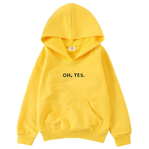 Hot Sales 2018 Spring Autumn Children's Letter Printed Long Sleeve Hooded Hoodies Casual Girls Boys Clothes Kids Tops