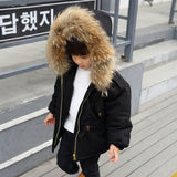 Russia Winter Coats for Kids Boys Outwe Jacket Snow We Fur Coll Thick Warm Children Parkas Down Cotton Padded Boy Overcoat