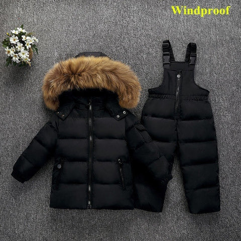 Russia Winter duck down jackets children clothing set girls kids baby clothes boys waterproof parka warm co snow we 2018 new