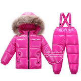 Russian winter snowsuits 2018 baby boy winter children girls duck down coats overalls clothing set jacket, children's clothing