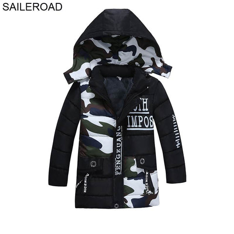 2-5Years Children Boys Down Jacket Winter Fashion Army Green Kids Boy's Outerwe Cotton Down Jacket Parkas