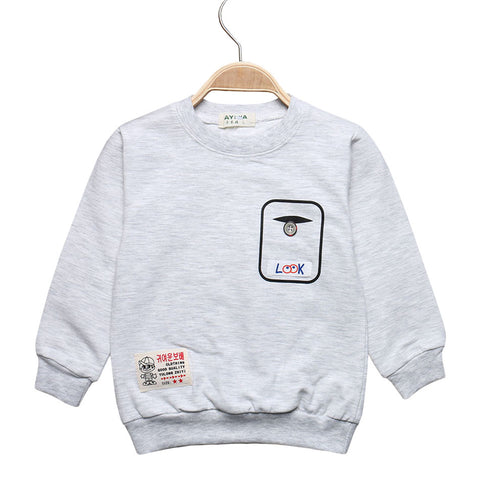 Sale Spring Boy T-shirt Kids Tees Baby Boys Girls Long Sleeve T-shirts Children Clothing Cotton Blouses Clothes S01-01