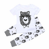 Baby Boy Clothes Set Solid Cotton Short-sleeve Cute Top+Pant New Design Summer 2Pcs Quality Kid Clothing Sets