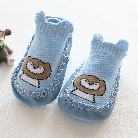 Baby Socks with rubber soles Anti Slip Baby Girls Boys Socks Cotton Cute Cartoon Casual Baby Stuff Newborn Clothes