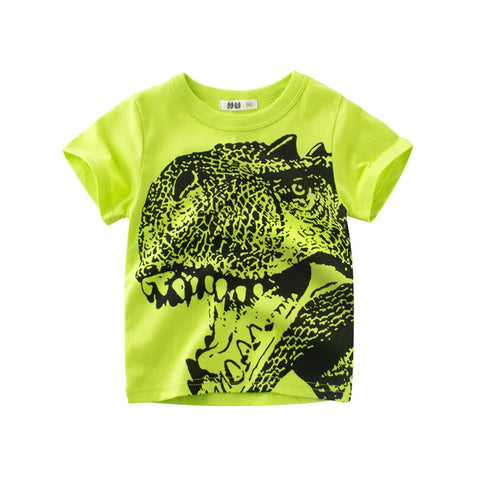 Shirts for Girls & Boys Short-sleeve Cotton Huge C Patch T-Shirts Baby Girl Boy Clothes in Tops Tees Blouse for Boys to School