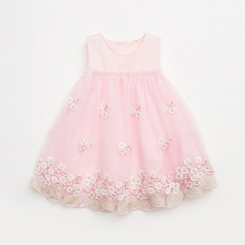 Kids White Princess Dress For Girls 2018 New Girl Embroidery Lace Dress Child Summer Clothing Children's Clothes W8551