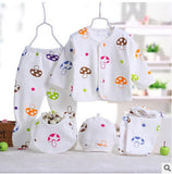 brand summer 0-3 months babies boy suit newborn clothing sportswe 5 sets / cute cartoon mushroom baby girl clothes
