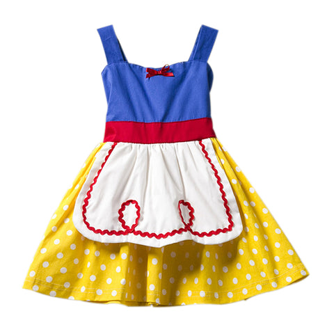 Snow White Dress for Girls Dresses Alice in Wonderland Dot Halloween Princess Cosplay Costumes Baby Girls Toddler Kids Clothes