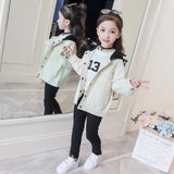 Solid White Green Basic Jacket 2018 Clothing for Baby Girls Boy Co Jacket Autumn Kids Outerwe Windbreaker Children Clothes