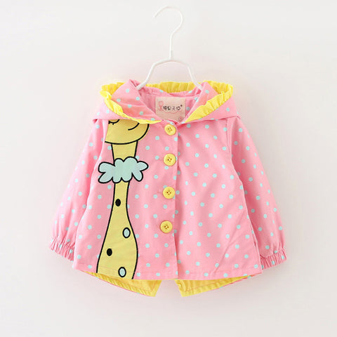 Sotida Baby Coats 2018 Fashion Kids Jackets clothing Baby girls Clothes cartoon Rabbit Printing Coats Children Outerwear&Coats