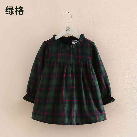 Spring Autumn Baby Girls Sweater Skirt Clothes 2018 Cute Style Kids Sweater Tracksuit Outwe Grid Shirt Co Girls Sweatshirt