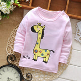 Spring Autumn Casual Gilrs Boys Baby Children Infant,Babi Long Sleeved Printed Cartoon Tops T-shirt PLUS054