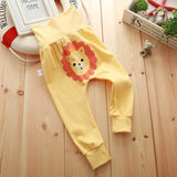 Spring Fall Baby Pants Fox Lion Dog Cartoon Be Boy Girl Leggings High Waist Toddler Infants Cotton Trousers Bobo Bebe 0--3Y