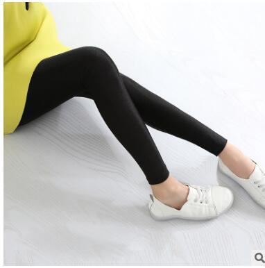 Spring and Autumn Children PANTS LEGGINGS Gloss Girls Thin Black and White Pink Leggings