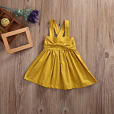 Summer 2018 Baby Girls Dress Toddler Kid Summer Sundress Bowknot Mini Bow Dress Outfit Sunsuit Dress 0-18M