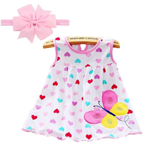 Summer 2018 Baby Girl Dress Girls Dresses Style Infantile Dress Low Price Hot Sale Baby Girl Clothes Flower Style Dress