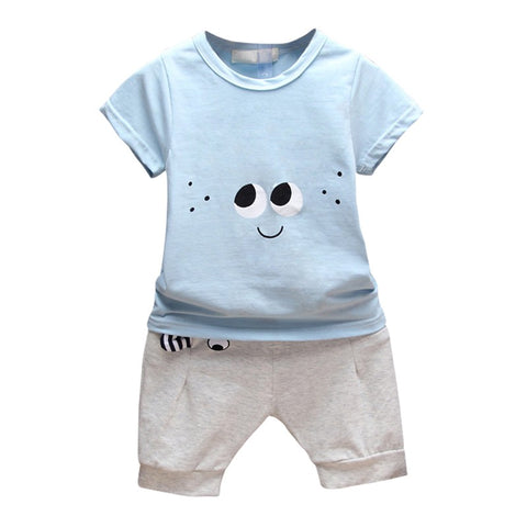 Summer Baby Boy Girl Clothing Set Cotton T-shirt + Ears Design Shorts Pants Toddler Fashion Printing Clothes Sets