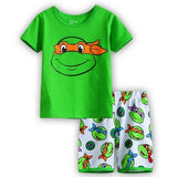 Summer Baby Boys Girls Clothes Set Cartoon Teenage Mutant Ninja Turtles Leisure we Kids Children T-shirts+shorts Pajamas Suit