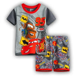 Summer Baby Boys Girls Clothes Set Cotton Cartoon Cars Leisure we Kids Clothing Set Children Sport Suit T-shirt+shorts Pajamas