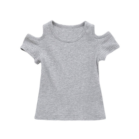 Summer Children T Shirt Casual Simple Baby Girls Soft Cotton Tops Kid Toddler Short Sleeve T-shirts Kids Clothing