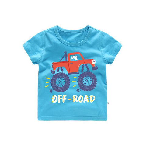 Summer Children T Shirts Cotton Short Sleeve Kids T-shirt Printed Tees For Boys Girls Top Cartoon c Printed Baby Clothing