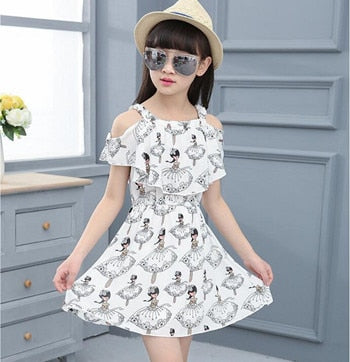 f2f1a94c0102 Summer Girl Dress Butterfly Floral Print Princess Dresses Baby Girls D –  ToysZoom