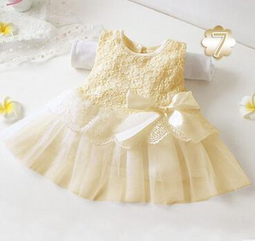 Summer Girls Baby Kid Bebe Dress Princess Toddler Newborn Wedding Big Bow Lace Ball Gown Baptism Dress Christening Clothing 0-2T