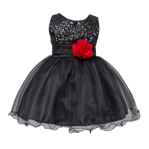 Summer Infant Baby Girls Mesh Formal Sleeveless Bling Sashes Flower Birthday Party Princess Dress 0-2Y