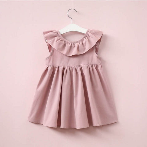 Summer baby Girls princess dress Small flying sleeve Girl child Clothing For trendy style Children clothes bow-knot bebe dress